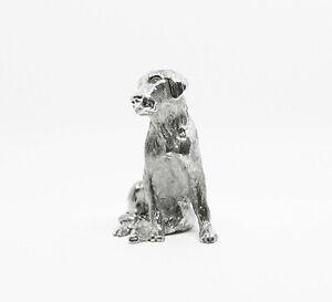 English Made Labrador Dog Solid Silver Animal Model Figurine Figure