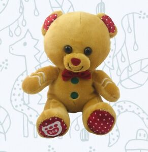 Build A Bear Smallfry Christmas Gingerbread Holiday Plush BABW bab