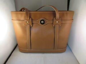 Dooney Bourke Dark Tan Leather Shoulder Hand Bag