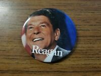 Reagan Presidential Campaign Button with Photo and Name - Ronald Reagan 3 inch