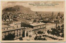 Primi '900 Palermo Panorama Cattedrale Monte Pellegrino Palazzo Reale FP B/N