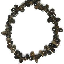 "NG3071f Smoky Quartz 8mm Top-Drilled Teardrop Briolette Gemstone Beads 7"""