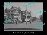OLD LARGE HISTORIC PHOTO OF BENDIGO VICTORIA VIEW OF VIEW STREET c1930s