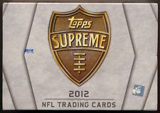 2012 Topps Supreme Football Factory Sealed HOBBY Box (Luck/Russell Wilson?)