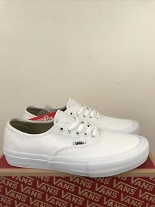 Vans Authentic Pro White/white Size 11.5