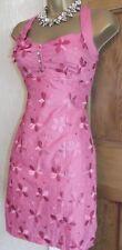 Gorgeous ❤️ Karen Millen Pink 3D Daisy Cotton Dress Size 10 Party Wedding Summer