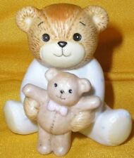 Porcelain Lucy Rigg & Me Baby Bear in Pjs Sitting Holding Teddy Bear Figuirine