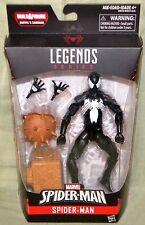 """BLACK COSTUME SPIDER-MAN 6"""" Figure Marvel Legends Sandman BAF Spider-Man Series"""