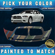 New Painted to Match- Front Bumper Cover Replacement For 2011-2014 Dodge Charger