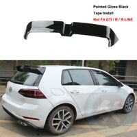 Paint Black Rear Tailgate Roof Top Spoiler Wing Fit For VW Golf MK7 2015-2020