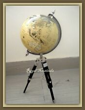 Nautical  World Map Globe with Stand Vintage Astrology Table Top Globe