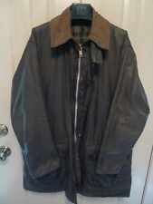BARBOUR -A200 BORDER WAXED COTTON JACKET- SHABBY CHIC-WELL USED-MADE@ UK-42