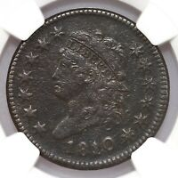 1810/09 Classic Head 1C S-281 NGC Certified VF Detail Environmental Damage