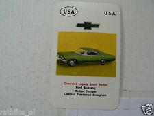 37-CARS/AUTO USA CHEVROLET IMPALA SPORT SEDAN KWARTET KAART, QUARTETT CARD,