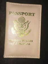 Faux Leather Travel USA Passport Case ID Card Holder Cover Organizer