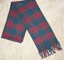 ABERCROMBIE & FITCH Adult Unisex PLAID Fringed WINTER A&F Logo Moose SCARF NEW