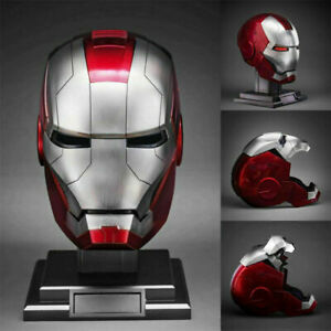 Cattoys Marvel Iron Man 1:1 Wearable ABS Mask Helmet MK5 Voice Control Cosplay