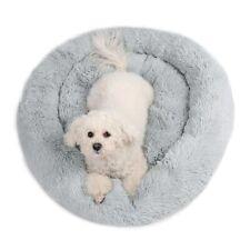 Dog Cat Bed Pet Kennel Soft Plush Warm Donut Sleeping Nest Round Fluffy Fur Mat