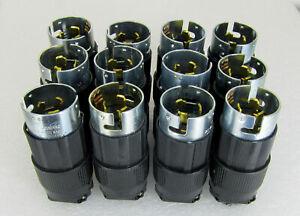 Lot of 12 - COOPER CS8365 50 AMP 250 VOLT 3Ø MALE TWIST LOCK PLUGS _ FREE SHIP