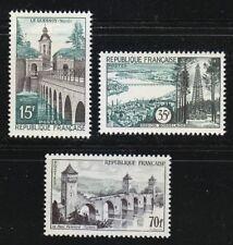 France 1957 MNH Mi 1145-1147 Sc 837-839 Le Quesnoy,Bordeaux,Valentre bridge **