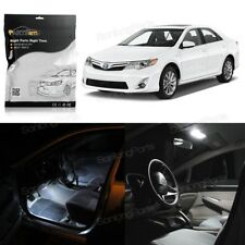 8x For Toyota Camry 2012 2013 2014 Interior White LED Lights Combo W/O Sunroof