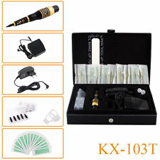 Professional KX-103T Permanent Makeup Cosmetic Tattoo Machine Kit Power Supply