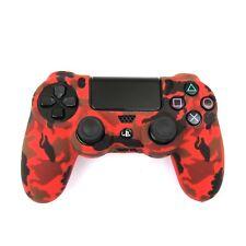 PS4 Controller Grip Skin Red Camo Silicone Case Soft Shell Non Slip NEW