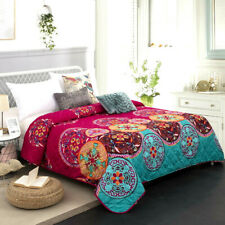 Mandala Oriental Bohemian Queen King Size Bedspread Coverlet Blanket Bed Throw