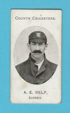 CRICKET - TADDY & CO. - VERY RARE CRICKET CARD -  A.  E.  RELF OF SUSSEX -  1907