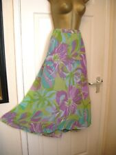 14 KALEIDOSCOPE CHIFFON MIDI SKIRT FLOATY CALF LENGTH SUMMER WEDDING PARTY