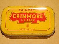 VINTAGE MURRAY'S ERINMORE FLAKE PIPE TOBACCO TIN  *EMPTY*