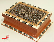 Egyptian Handmade Inside&Outside Mother of Pearl Inlaid Beech Wood Jewelry box Z