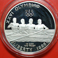 USA-Amerika 1 Dollar Silber 1996 KM# 272.2 PP-Proof #F3157 Olympics Atlanta