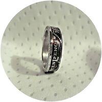 UK/British Ten Pence Handmade Coin Ring