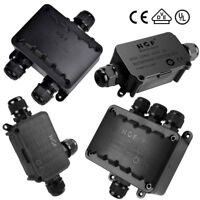 2 / 3 / 4 Way Junction Box IP66 Waterproof Outdoor Cable Connector PG9 M16 M20