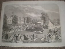 The Queen's Garden party at Buckingham Palace 1868 print ref W1