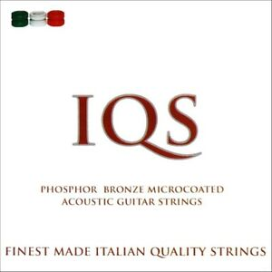 3 SETS IQS ACOUSTIC 12-53 PHOSPHOR BRONZE MICROCOATED QUALITY ITALIAN STRINGS