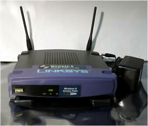 Linksys WAP54G Ver. 3, Wireless-G Access Point with SES w/ wall mount