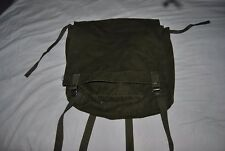 Vintage US Forest Service packsack or backpack, green cotton canvas