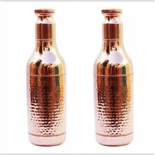Set of 2 pc 100% Copper Drinking Vine Bottle Pot Natural Ayurveda Health Benifit