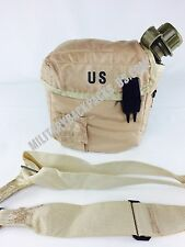 Mint Tan Military 2Qt Insulated Pouch With Canteen Water Bottle Hunting Hiking