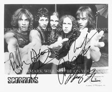 THE SCORPIONS BAND SIGNED AUTOGRAPHED 8x10 RP PHOTO ROCK YOU LIKE A HURRICANE