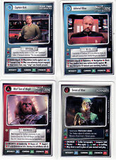 Star Trek CCG The Dominion Complete Full Set Including all 4 White Border Cards.