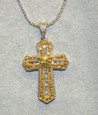 AffinityDiamond 1/2 ct tw Cross Pendant with Chain, Sterling