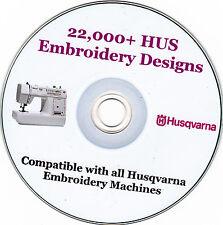 HUSQVARNA macchina EMBROIDERY Designs HUS formato + catalogo Full Colour