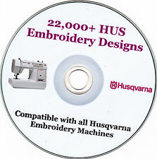 Husqvarna machine embroidery designs hus format + full colour catalogue