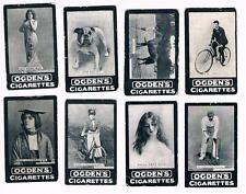 Lot of 8 Original 1901 Ogden's Tab Cigarettes Series B Tobacco Cards