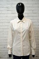 Camicia Donna GANT Classic Taglia L Maglia Manica Lunga Shirt Elastica a Righe