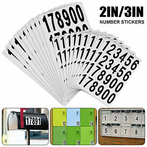 10 Sheet Number Stickers Small Self Adhesive Label DIY Scrapbooking Crafts 2/3in