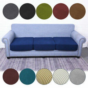 1-4 Seats Stretchy Sofa Seat Cushion Cover Couch Slipcovers Protector Customize